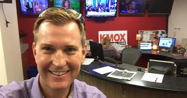 Kevin Steincross inside the KMOX newsroom.