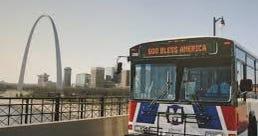 metrolink bus in St. Louis