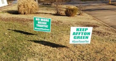 Save Tower Tee yard signs