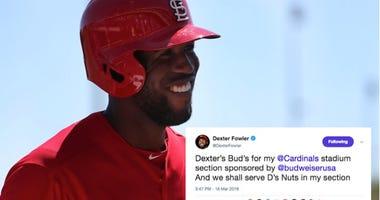 Dexter Fowler of the St. Louis Cardinals.