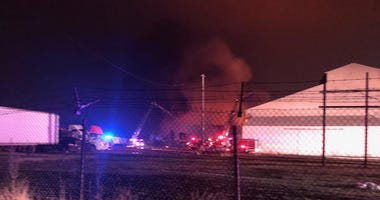 fire, recycling plant