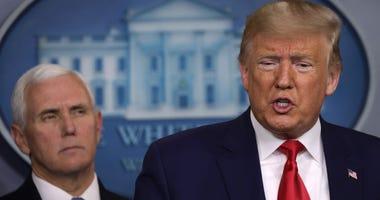 Trump, pence, coronavirus