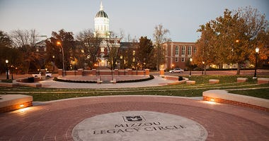 Mizzou Legacy Circle at the Mel Carnahan quad on the campus of University of Missouri - Columbia is seen on November 10, 2015 in Columbia, Missouri. The university looks to get things back to normal after the recent protests on campus that lead to the res