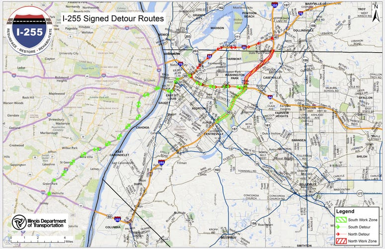 I-255 Detour Routes