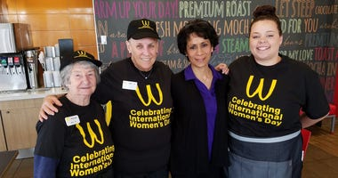 International Women's Day at McDonald's on Tesson Ferry Road in South County.
