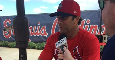 Cardinals manager Mike Matheny at spring training