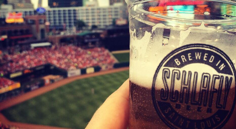 Schlafly beer at Busch Stadium.