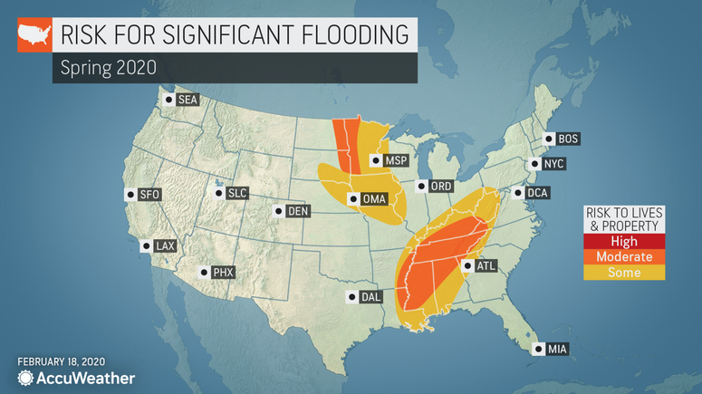 Spring forecast for flooding risks in St. Louis from AccuWeather