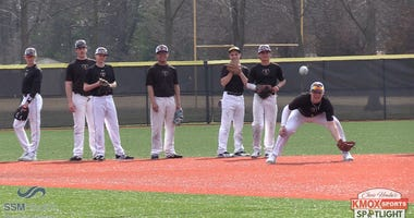 St. John Vianney High School baseball team practice.
