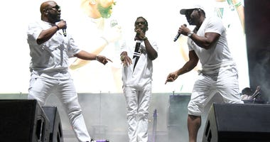 Dec 3, 2017; Fort Lauderdale Beach, FL, USA; Boyz II Men performs during the Riptide Music Festival.