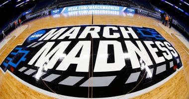 General view of the March Madness logo