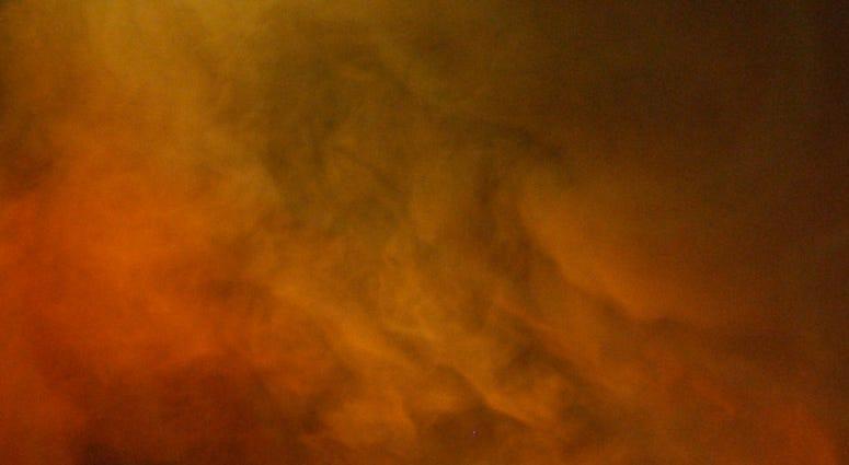 fire, cloud of smoke