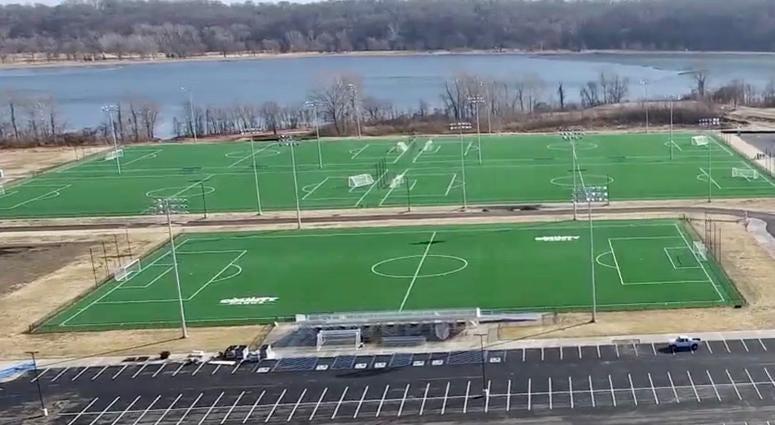 Aerial Shot CCP Soccer Complex - Five Fields