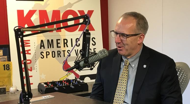 SEC commissioner Greg Sankey in the KMOX studio