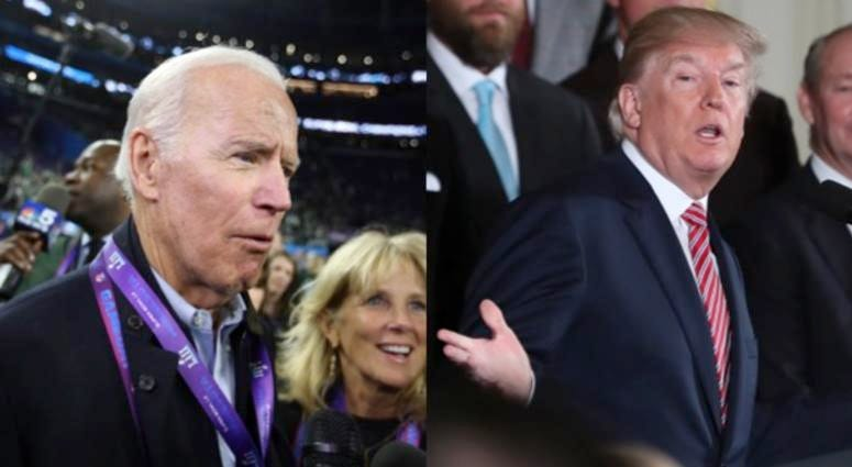 Former vice president Joe Biden and President Donald Trump.