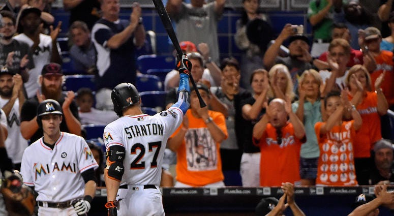 Miami Marlins right fielder Giancarlo Stanton