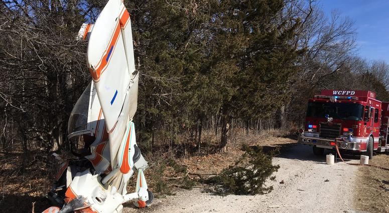 Wright City Fire-small plane crash in Centreville