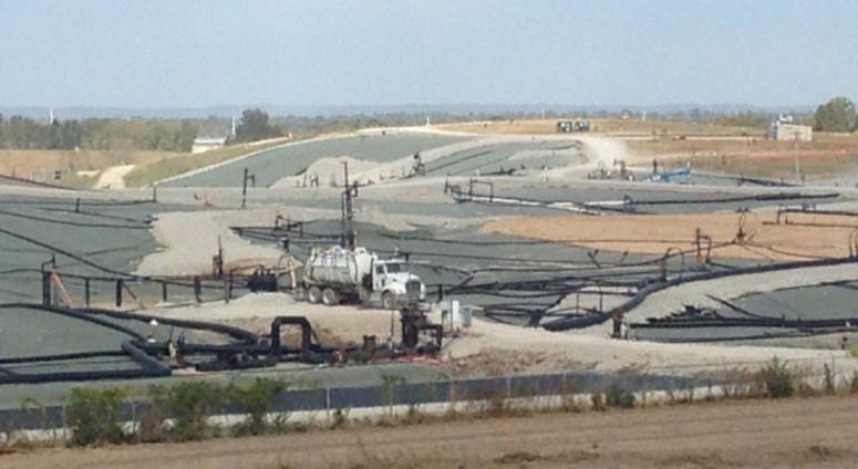 Bridgeton landfill, West Lake landfill in distance. Taken Oct. 2015