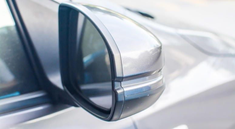 Car Mirror, on a modern car.