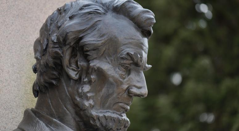 Abraham Lincoln statue at Gettysburg Pennsylvania National Park.