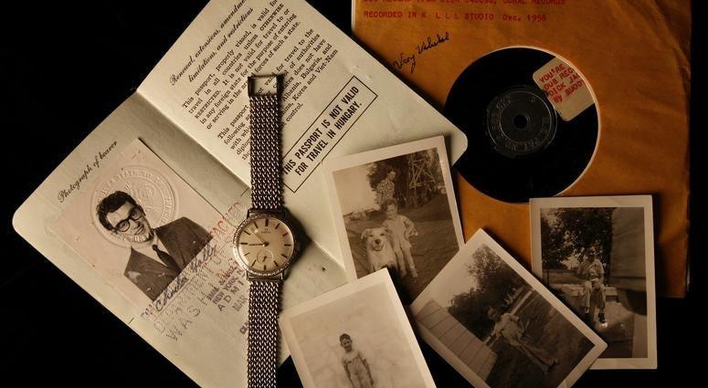 A collection of Buddy Holly memorabilia