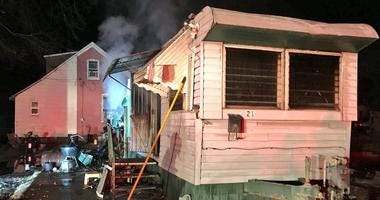 aftermath of a fatal fire