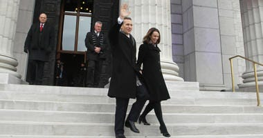 Missouri Governor-elecy Eric Greitens and his wife Sheena