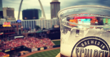 Schlafly beer at Busch Stadium.