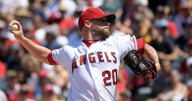 Los Angeles Angels pitcher Bud Norris