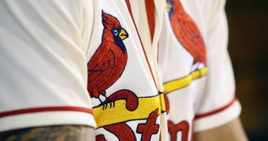 St. Louis Cardinals' birds on the bat logo on uniform