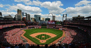 A general view of Busch Stadium
