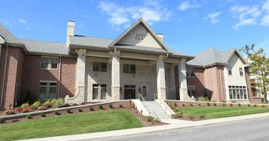 The Delta Upsilon Fraternity house is quiet after news has surfaced that the organization has been accused of requiring pledges to drug women, in Columbia, Missouri on October 15, 2016.
