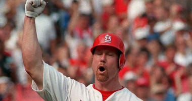 St. Louis Cardinals' Mark McGwire celebrates