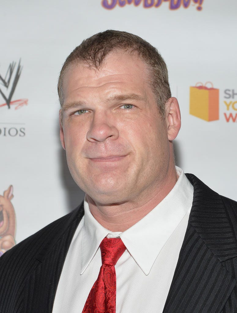 WWE Wrestler Kane attends the 'Scooby Doo! WrestleMania Mystery' New York Premiere at Tribeca Cinemas on March 22, 2014 in New York City.