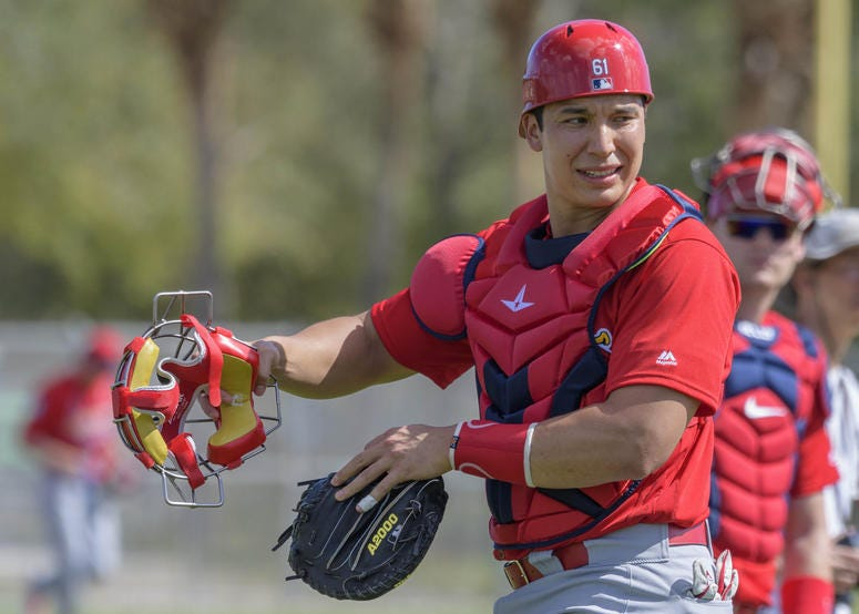 St. Louis Cardinals catcher Steven Baron