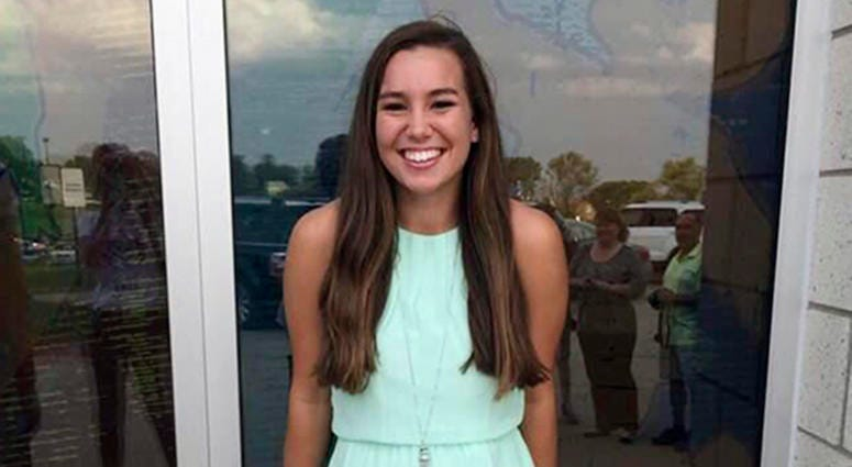 This undated photo released by the Iowa Department of Criminal Investigation shows Mollie Tibbetts, a University of Iowa student who was reported missing from her hometown in the eastern Iowa city of Brooklyn on Thursday, July 19, 2018.