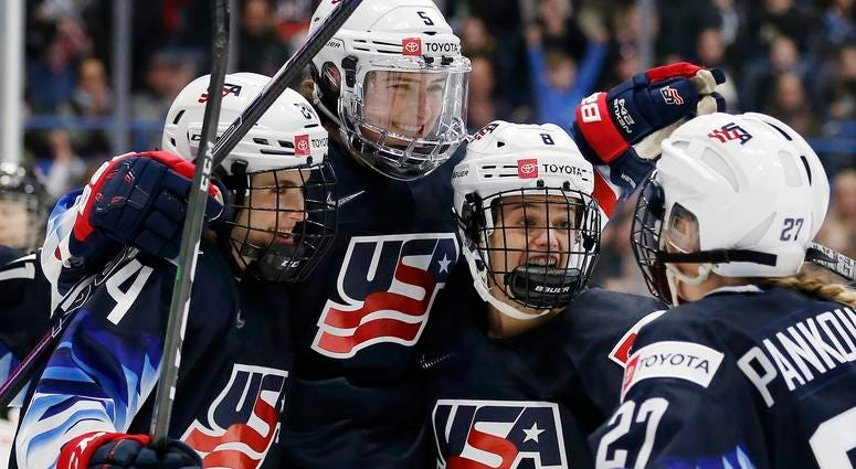 Team USA womens hockey