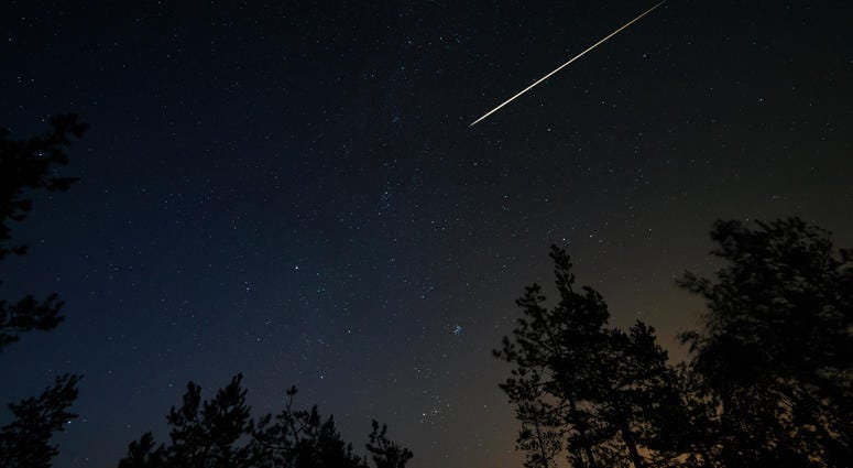 Major meteor shower happening across North America on Saturday night