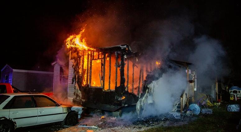 Four others suffered smoke inhalation.