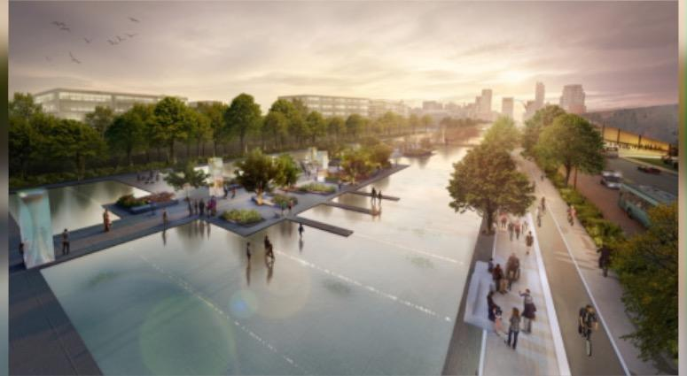 Chouteau Greenway rendering