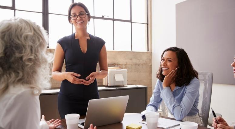 women in business meeting
