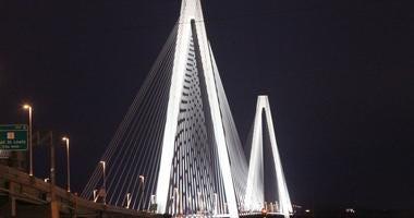 View of the Stan Musial Veterans Memorial Bridge.