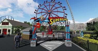 supergirl ride concept drawing