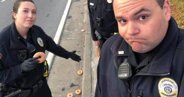 Police, donuts
