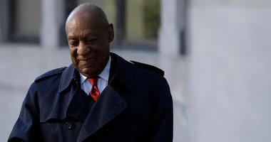 Bill Cosby arrives for his sexual assault trial, Thursday, April 26, 2018, at the Montgomery County Courthouse in Norristown, Pa.
