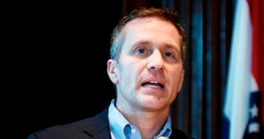 In this April 11, 2018, file photo, Missouri Gov. Eric Greitens speaks at a news conference in Jefferson City, Mo., about allegations related to his extramarital affair with his hairdresser.