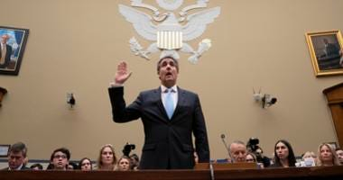 Michael Cohen, President Donald Trump's former personal lawyer, is sworn in to testify before the House Oversight and Reform Committee on Capitol Hill in Washington, Wednesday, Feb. 27, 2019.