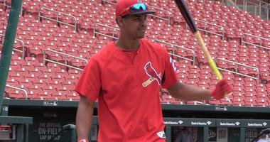 St. Louis Cardinals prospect Alex Reyes at Busch Stadium.