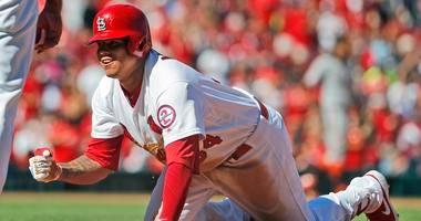 St. Louis Cardinals infielder Yario Munoz is safe.