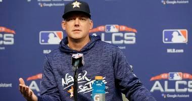 Houston Astros manager AJ Hinch speaks